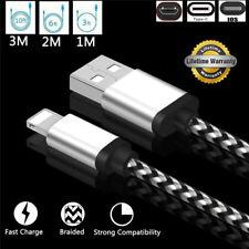 1-3M Alta Calidad Trenzado Cargador Rápido Transfer Cable para Samsung S8 S7 Ios