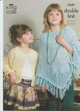 Crochet Girls Ponchoes Patterns