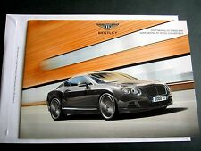 BENTLEY CONTINENTAL GT SPEED - 2014 ORIGINAL UK BROCHURE W12 & CONVERTIBLE