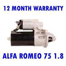 ALFA ROMEO 75 1.8 2.5 3.0 SALOON 1985 1986 1987 1988 - 1992 STARTER MOTOR