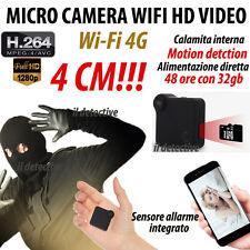 Micro telecamera spia C12 wifi 3g 4g motion detection microcamera nascosta