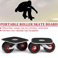 Skate Drift Board Pair Portable Metal Plate Freeline Outdoor Wide Wheels  Ge