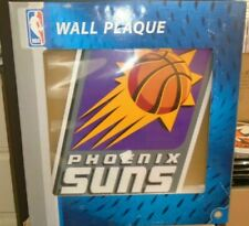"""More details for new nba phoenix suns sports furniture 18"""" wooden plaque wall feature collectable"""