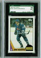 JOHN OGRODNICK 1987-88 Topps Hockey SGC MINT 96/9 & Bonus Cards always added