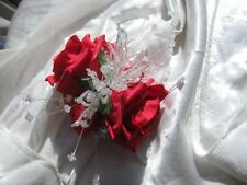 Red Rose Wrist Corsage Prom Or Wedding Flowers Foam Rose Bride Maid Mother