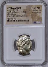Attica Athens Greek Owl Silver Tetradrachm Coin (440-404 BC) - NGC CH AU 4/5 4/5
