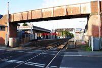 PHOTO  EGHAM RAILWAY STATION LEVEL CROSSING & BRIDGE