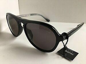 New Polarized Dunhill SDH055 BLKP Black 54mm Men's Sunglasses #12