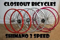 "26"" Shamino NEXUS NX-3/Shifter 3 Speed Bicycle Alloy Wheelset Cruiser MTB 4 Colo"