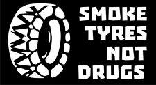 Car Truck Motorbike Vehicle  Bumper Sticker Funny smoke tyres Decal