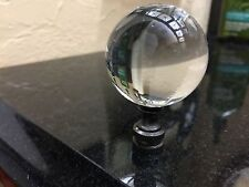 """LAMP FINIAL TOPPER  HUGE 2 3/8 """" TALL 1.5"""" Wide Crystsl Glass Ball"""