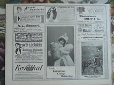 1899 Zeitungsdruck 7  Reklame Automobil Berlin Marienfelde Kathreiner Malzkaffee