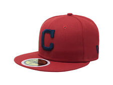 New Era 59Fifty Cap Mlb Cleveland Indians Boys Kids Youth Size Red Navy C Hat