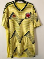 NWT Adidas Colombia 2019 Home Soccer Football Jersey Authentic Men's S DN6619