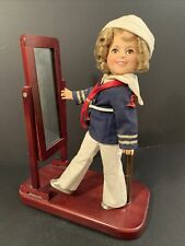 Vintage 1982 Ideal Shirley Temple Hard Plastic Doll With Wood Stand