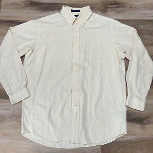 Daniel Cremieux Mens Silk Blend Shirt Button Down Large
