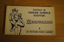 Ecstacy In INDIAN TEMPLE Sculpture KHAJURAHO 20 Postcard Pack Erotic Risque Rare