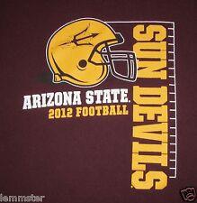 ASU 2012 Sun Devils Football schedule LARGE Shirt Arizona State University