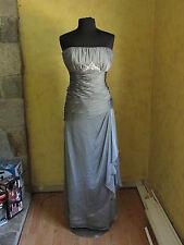 Jade by Jasmine J1113 mother of bride / groom dress - size 12 - silver (528-12)