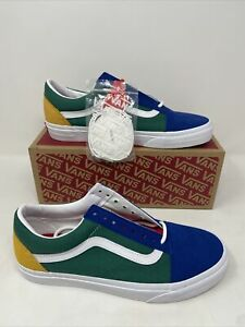 Vans Shoes Old Skool Yacht Club Color Block Blue Red Yellow Green White Size 8.5