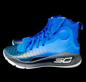 Under Armour Curry 4 Dub Nation Away Men's Sz 11.5  Blue/Black Shoes 1298306-401