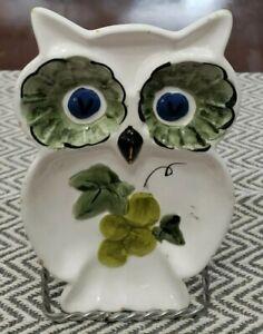 "Vintage Owl Spoon Rest Marked 4237 8"""