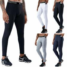 Men Compression Base Layer Workout Leggings Gym Sports Running Training Pants