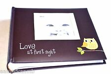 Pioneer Baby Girl Photo Album Green Owl 200 4x6 Pictures Frame On Brown Cover