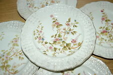 5 Ludwig Wessel Plates C1890 Very Pretty Shabby Chic Continental European German