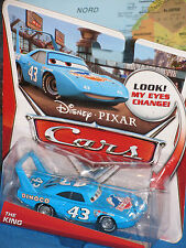 DISNEY PIXAR CARS THE KING DINOCO LOOK MY EYES CHANGE! **BRAND NEW & RARE**