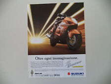 advertising Pubblicità 1999 MOTO SUZUKI GSX 1300 HAYABUSA