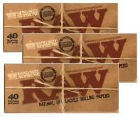 3 PACKS RAW KING SIZE SUPREME uncreased unbleached cigarette rolling papers