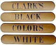 CLARKS SPOOL CABINET DECAL 4 PIECE SET  H1020