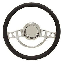 Chrome Hot Rod Steering Wheel Full Kit for GM Columns, Ididit, etc - Any Color!