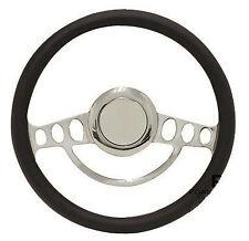 Chrome & Black Steering Wheel Full Kit for 1969 and up Chevy Chevrolet El Camino