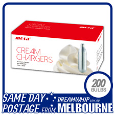 SAME DAY POSTAGE MOSA CREAM BULBS 50 PACK X 4 (200 CHARGERS) WHIPPED