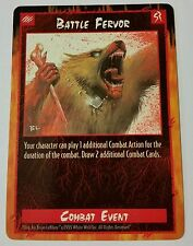 Battle Fervor Rage CCG TCG Promo Card Werewolf the Apocalypse White Wolf
