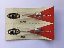 2 NOS Raytheon CK721 Germanium transistors in sealed package