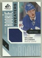 2016-17 SP GAME USED JERSEY ROOKIE SWEATERS WILLIAM NYLANDER RS-WN #'d 365/499