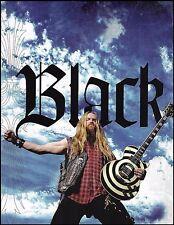 Black Label Society Zakk Wylde Gibson Les Paul Bullseye guitar 8 x 11 pinup 2c