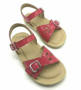 Start-rite Soft Harper Hot Pink Girl's Leather Buckle Sandals