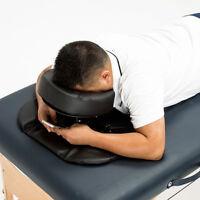 PU Foam U Shape Neck Brace Face Down Pillow Cushion for Massage Table Black