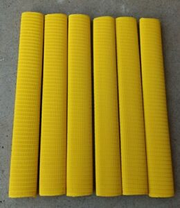 6x RINGLINE Cricket Bat Grip - YELLOW - Oz Stock