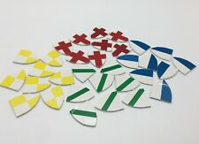 Gamewright QUESTS OF THE ROUND TABLE Game Replacement Pieces SET OF 32 SHIELDS