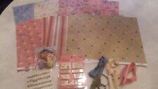 Scrapworks Double Sided Scrapbook Paper Lot Plus Embellishments