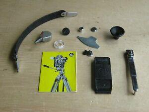 Bolex 16MM Camera Accessories, Rewind Handle, Carrying Handle, 400ft Mag Cover
