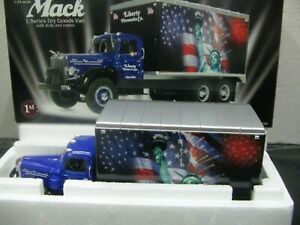 WOW EXTREMELY RARE Mack L Box Van 1954 Statue of Liberty 1:34 First Gear-Tekno