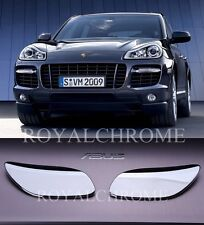 US STOCK x2 ROYAL CHROME Head Light Washer Covers for Porsche Cayenne LCI 957