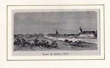 Hoya - Weser - Holzstich aus Görges 1881