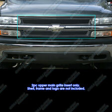 For 1999-2002 Chevy Silverado 1500/ 00-06 Suburban Stainless Black Mesh Grille
